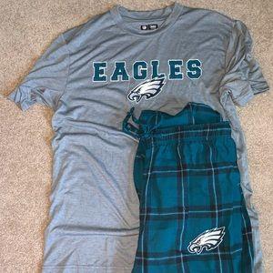 NWOT Philadelphia Eagles Pajama Set